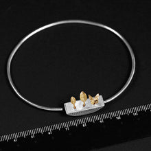 Load image into Gallery viewer, Handmade 'My Little Garden' Bangle - Sterling Silver 925
