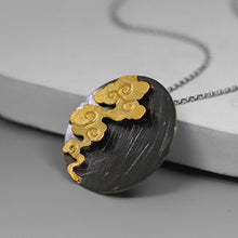 Load image into Gallery viewer, Handmade Vintage Round Cloud Pendant w/out Necklace - Sterling Silver 925