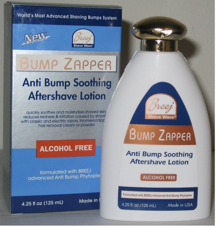 BUMP ZAPPER Anti Bump Soothing Aftershave Lotion.
