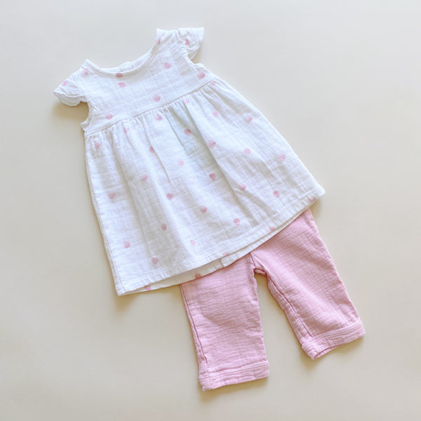 Aden and Anais Dress & Pants Set / Size 3M
