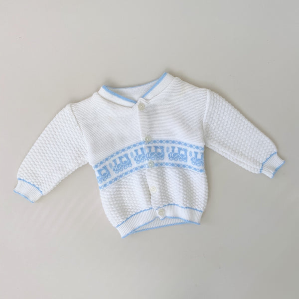 Vintage Aquarius Kids Choo Choo Train Sweater / Size 6-9M