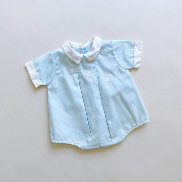 Feltman Brothers Pale Blue Ducky Romper / Size 6M