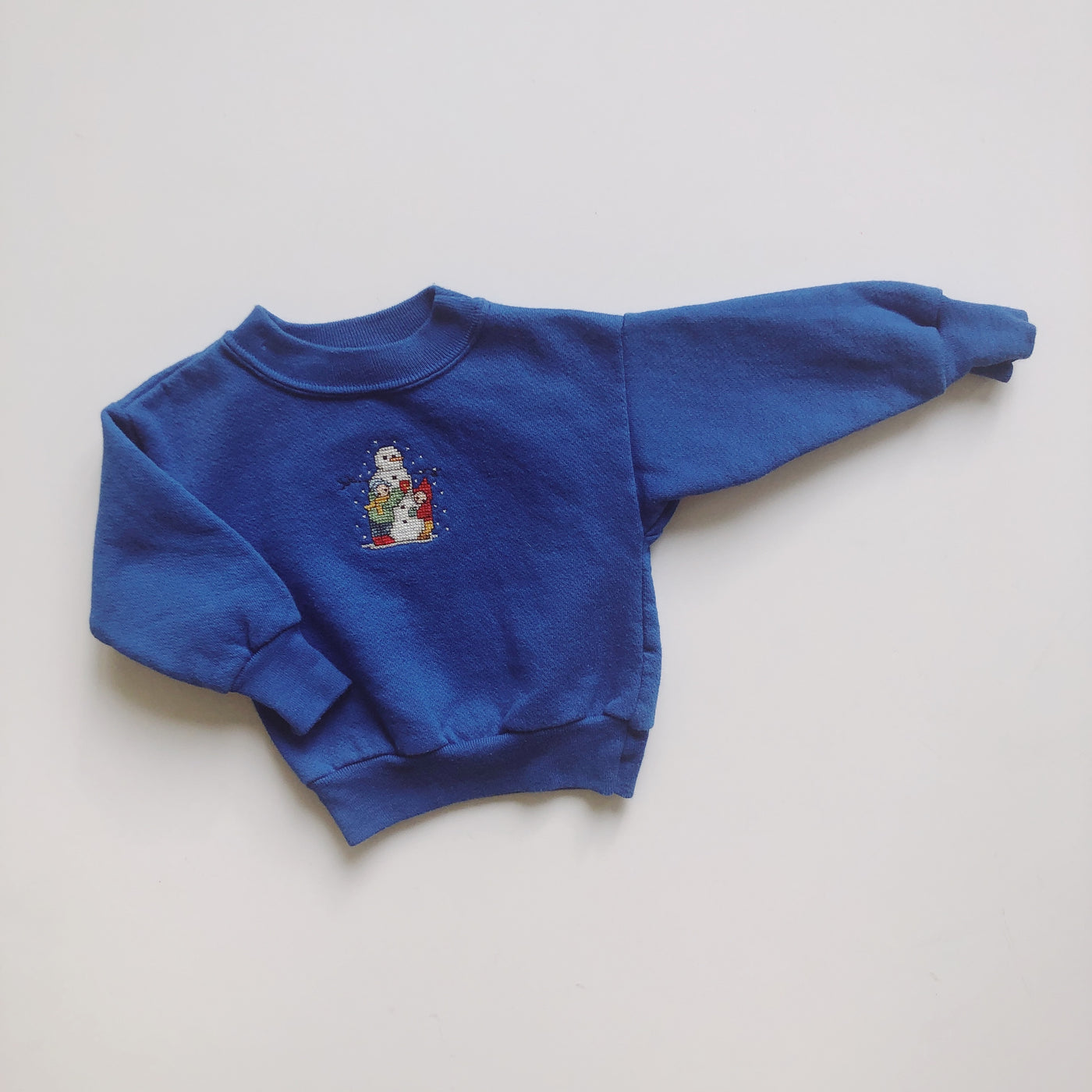 Vintage Spencer's Embroidered Snowman Sweatshirt / Size 9-12M