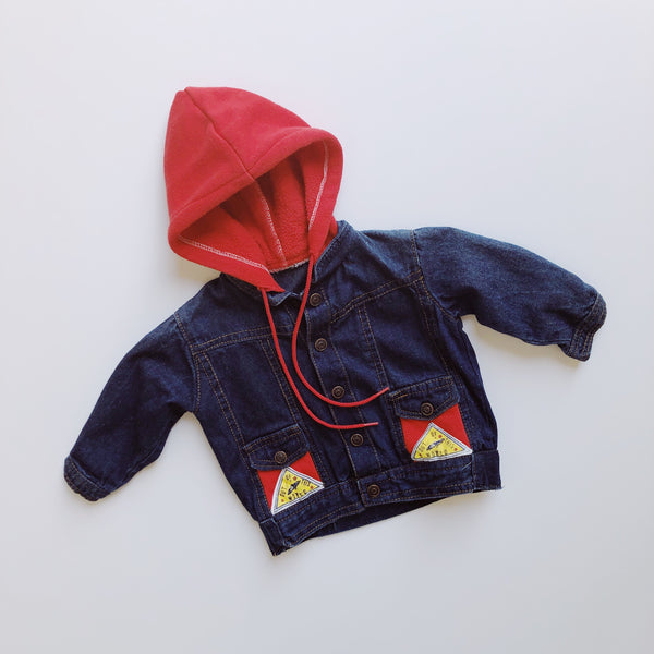 Out of this World Hoodie Jean Jacket / Size 12M