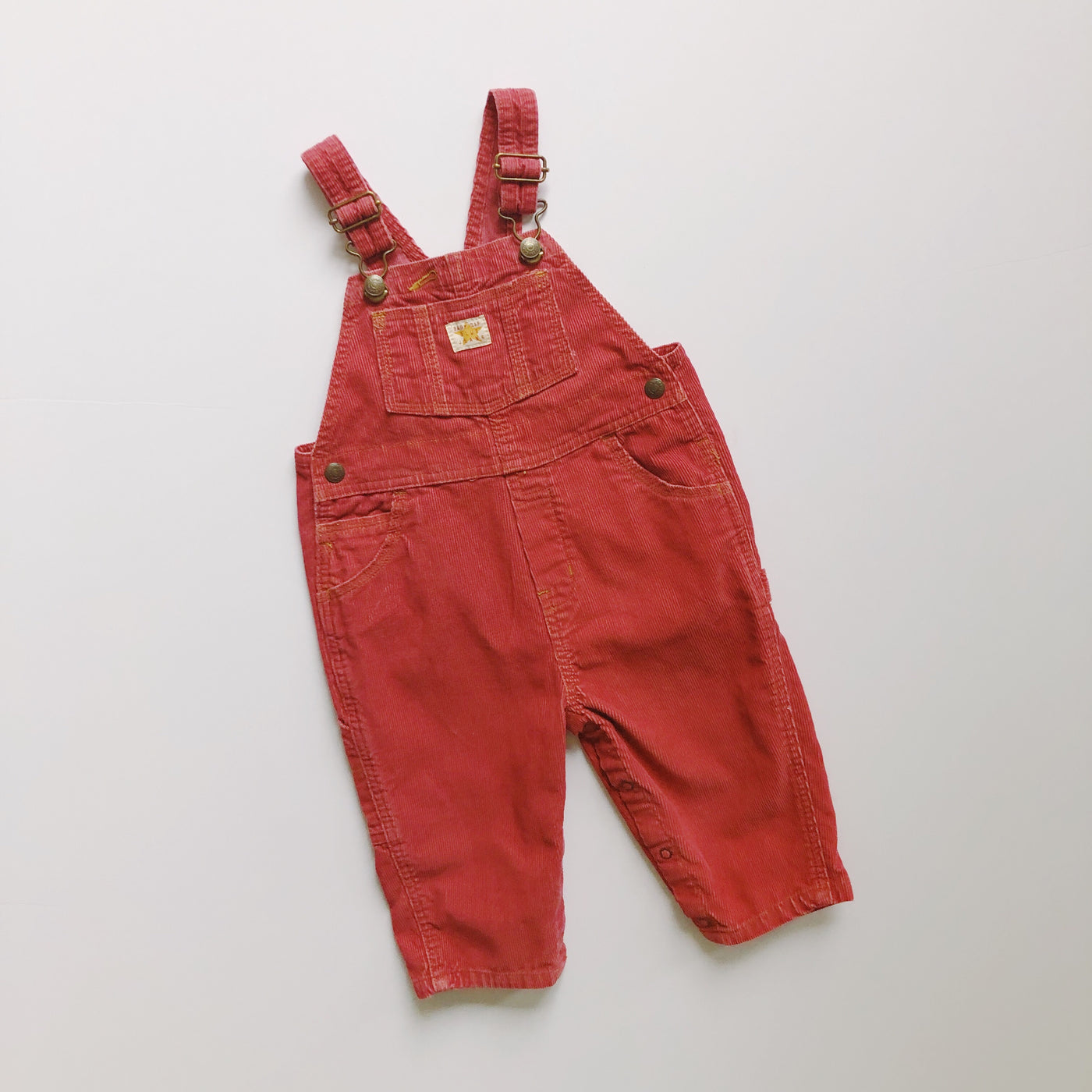 Baby Gap Brick Red Corduroy Overalls / Size 18-24M