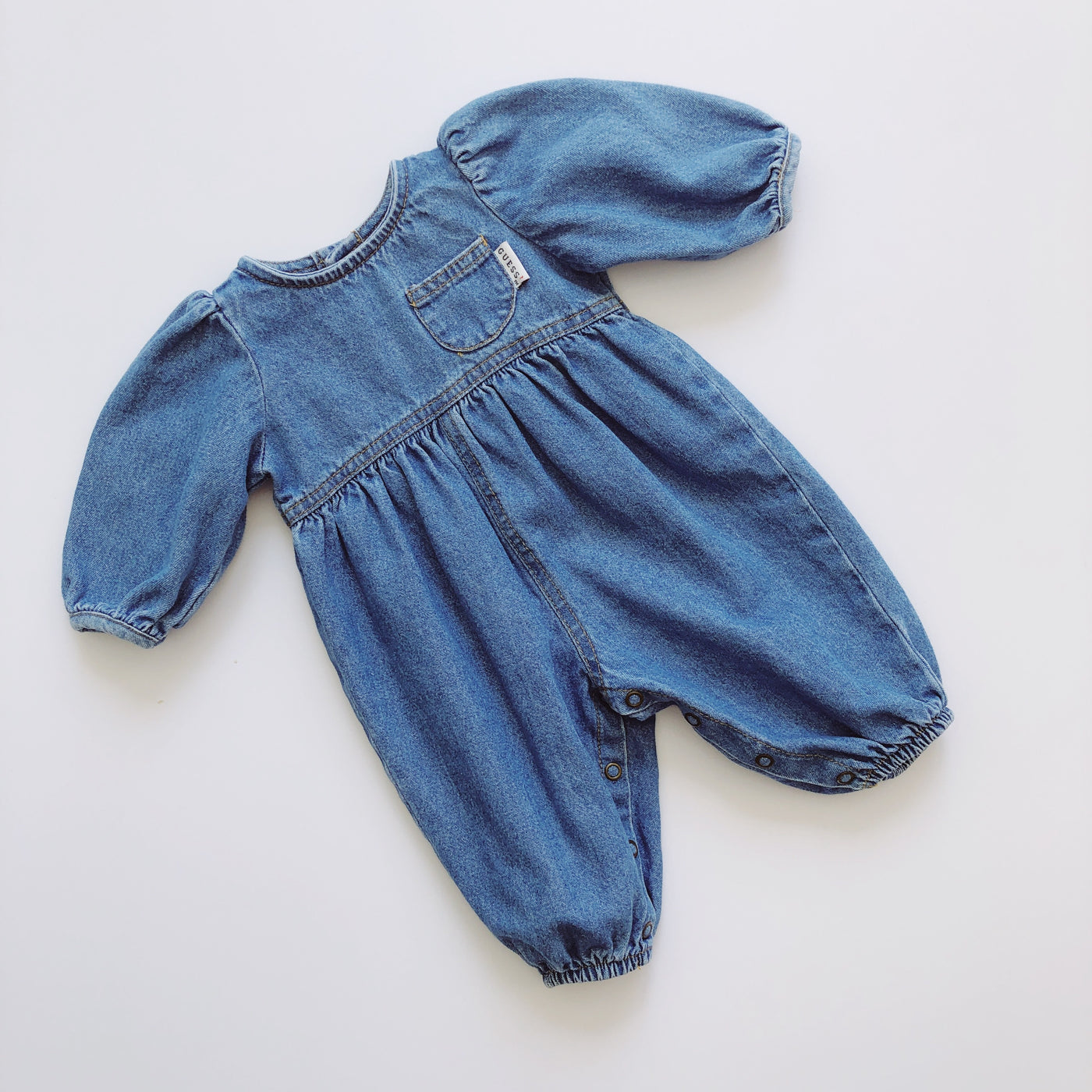 Guess Denim Longsleeve Bubble Romper