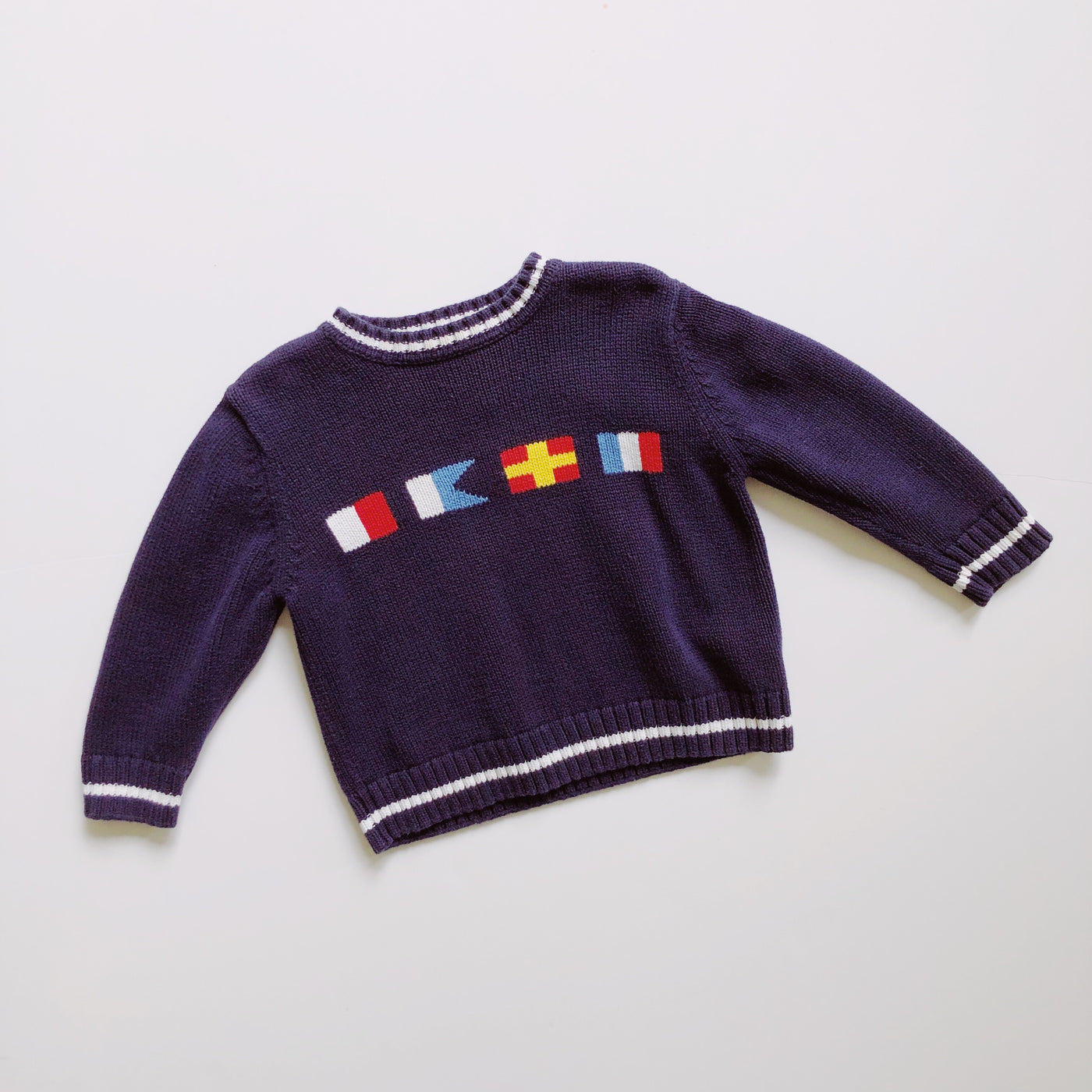 Hartstrings Navy Nautical Sweater / Size 4T