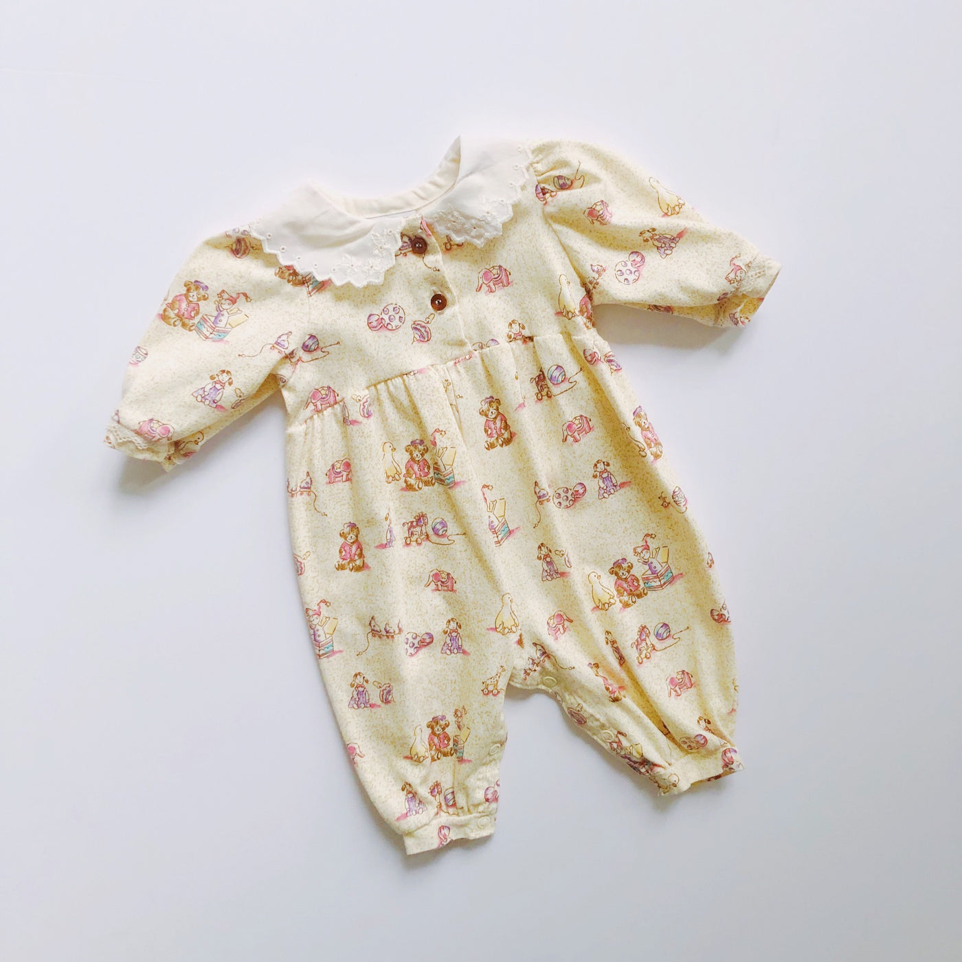 Vintage Carter's Collared Toy Romper / Size 3-6M