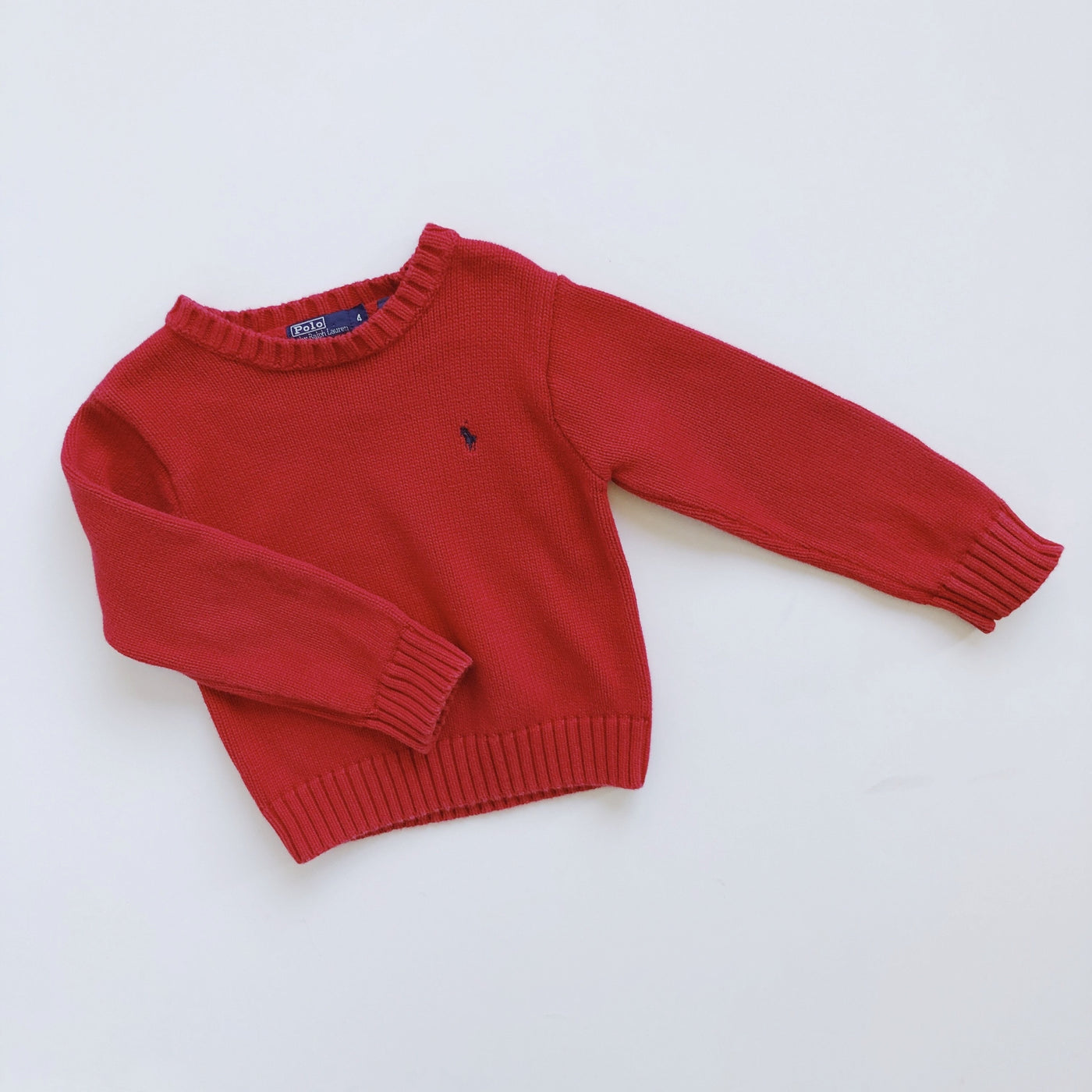 Ralph Lauren Red Crew Neck Sweater / Size 4T