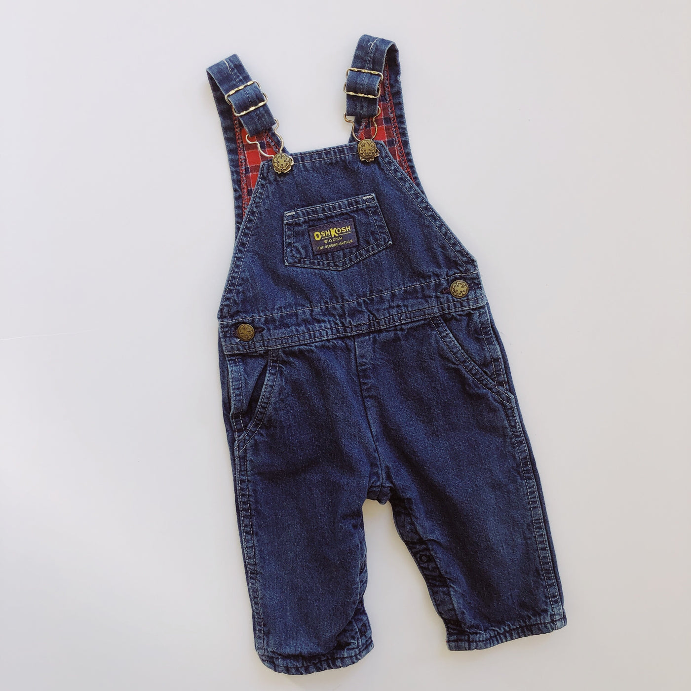OshKosh Lined Denim Overalls / Size 12M