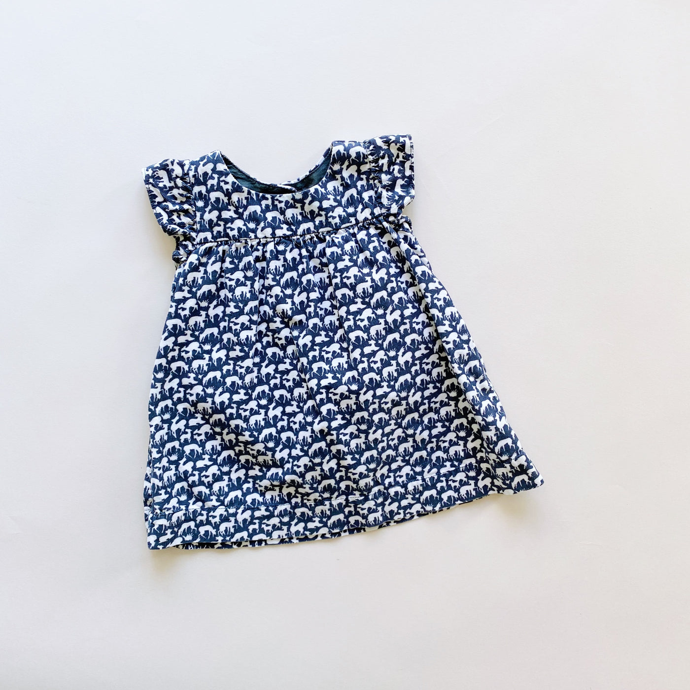 Baby Gap Lightweight Corduroy Deer Dress / Size 3-6M