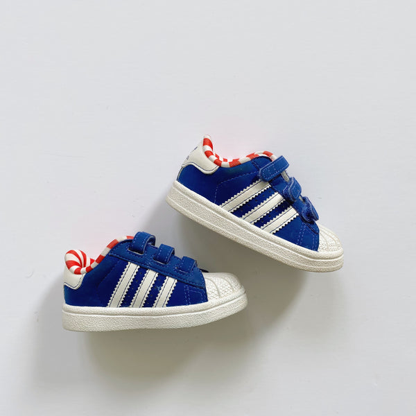Adidas Candy Stripe Velcro Sneakers / Toddler 4