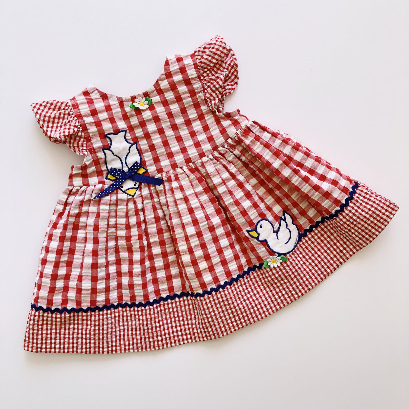 Baby Togs Gingham Duck Dress / Size 18M