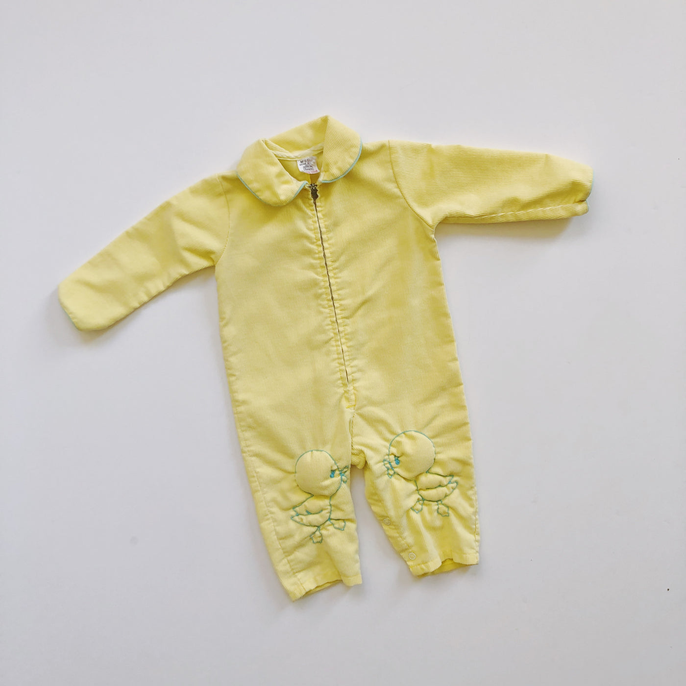 Vintage Sears Yellow Ducky Romper / Size 12-18M