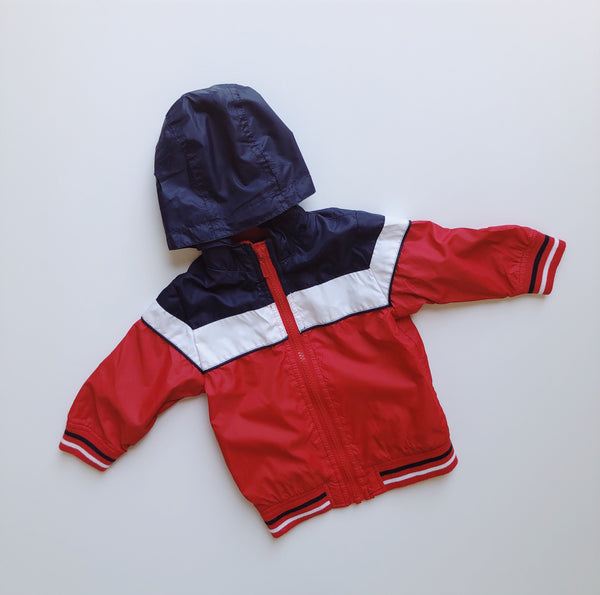 Bluezoo Color Block Windbreaker with Hood / Size 18M