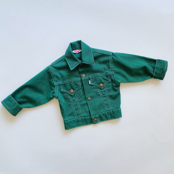 Vintage Levi's Green Denim Jacket / Size 5T