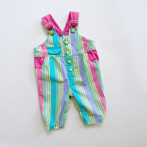 Rainbow Striped Overalls / Size 9M