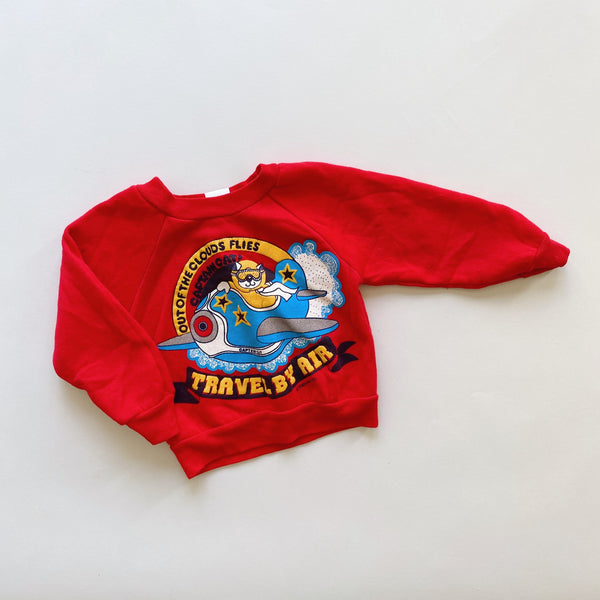 "The ""These Skies Are Still Friendly"" Vintage Sweatshirt  / Size 2T"