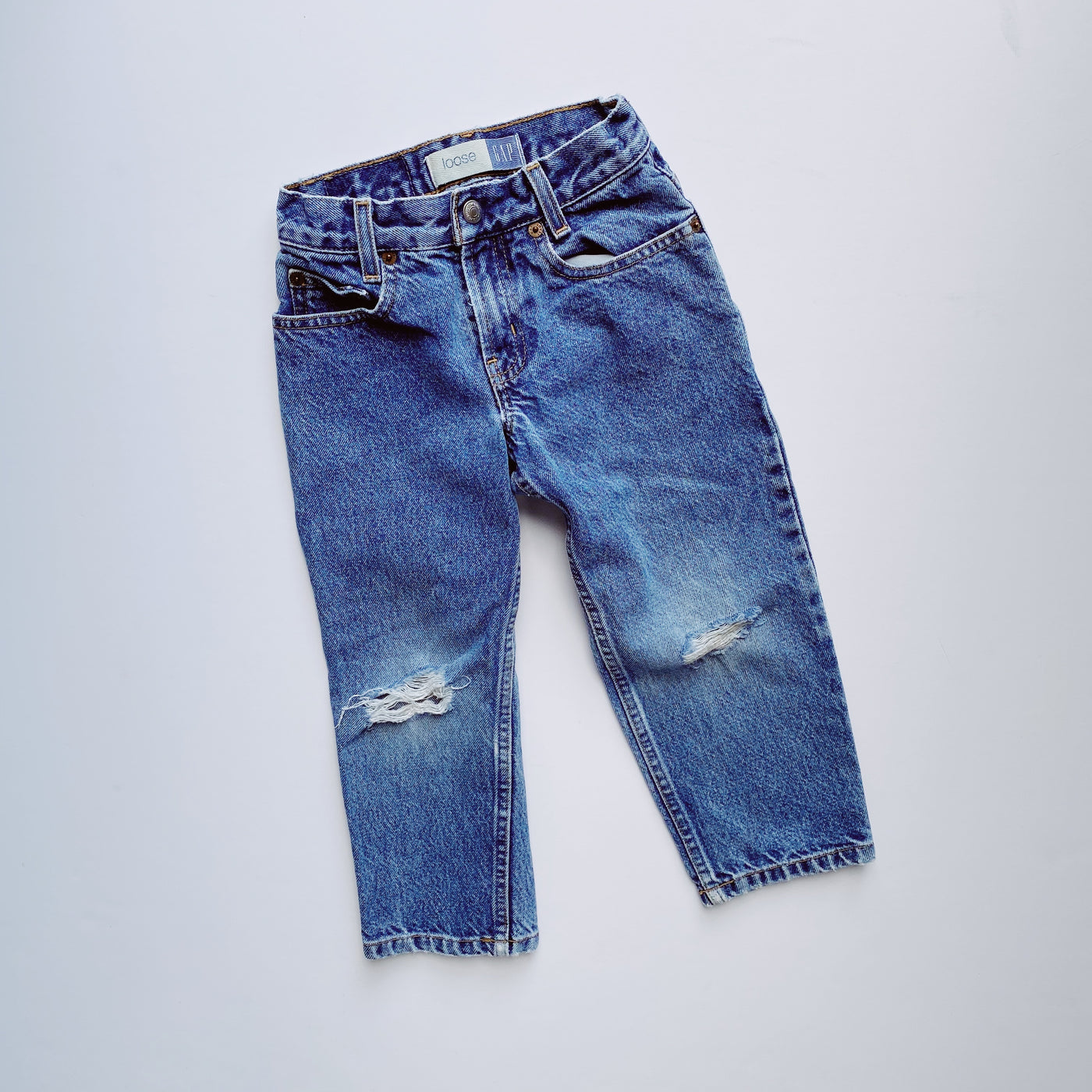 Vintage Baby Gap Perfect 10 Torn Jeans / Size 4T