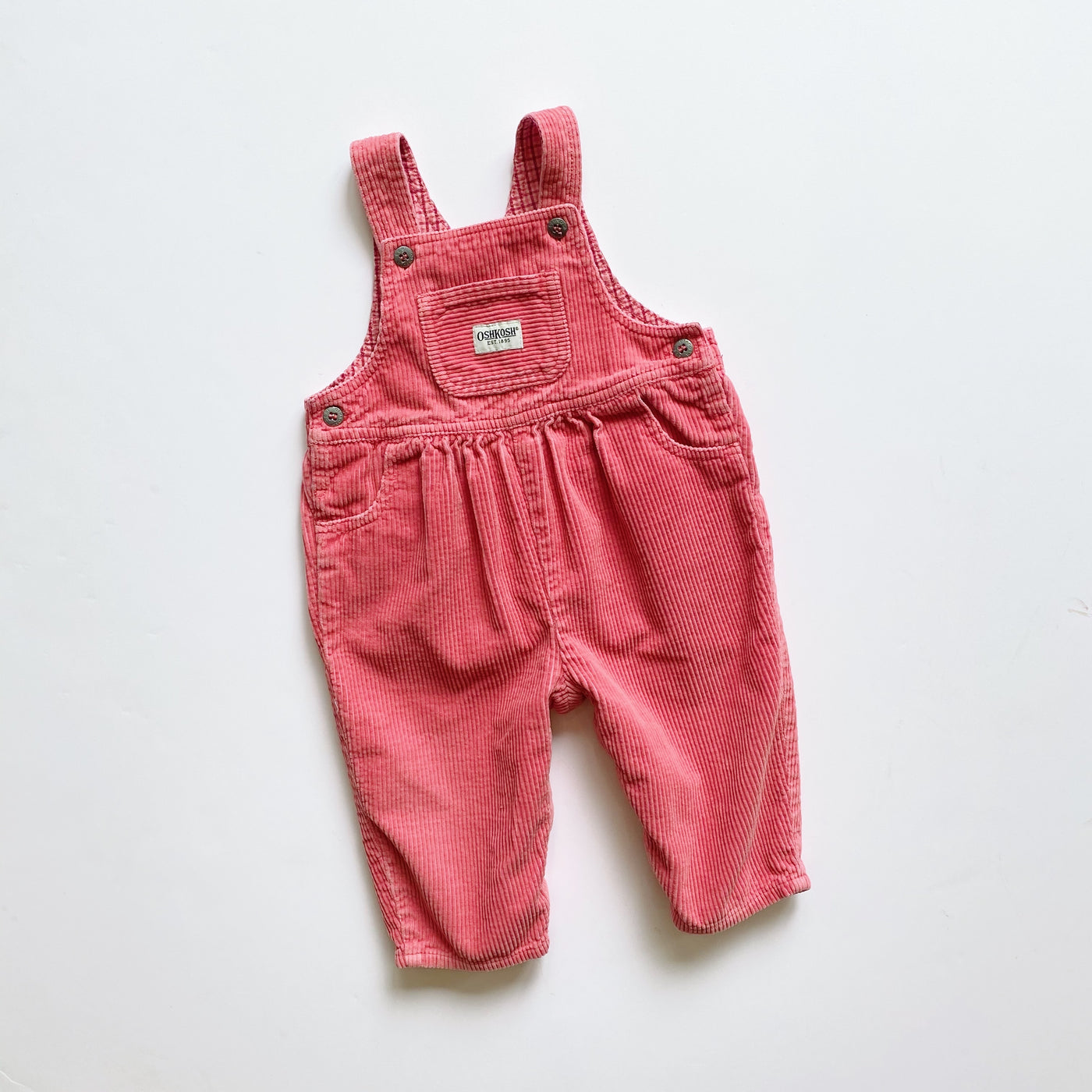 OshKosh Dusty Rose Corduroy Overalls / Size 12M