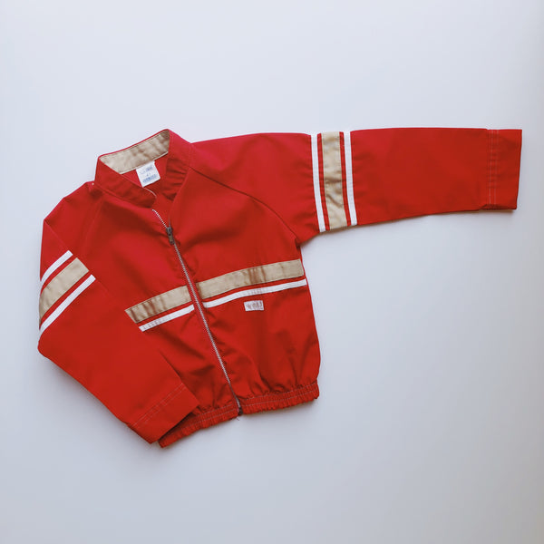 Vintage Carters Red Striped Racing Jacket / Size 4T