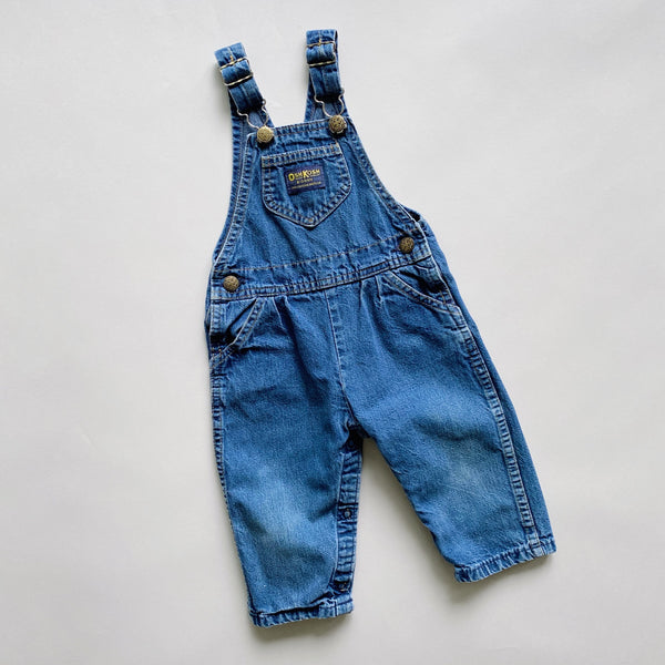 Vintage Medium Wash Oshkosh Overalls / Size 24M