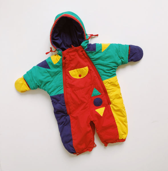 Vintage Circo Color Block Snowsuit / Size 6-9M