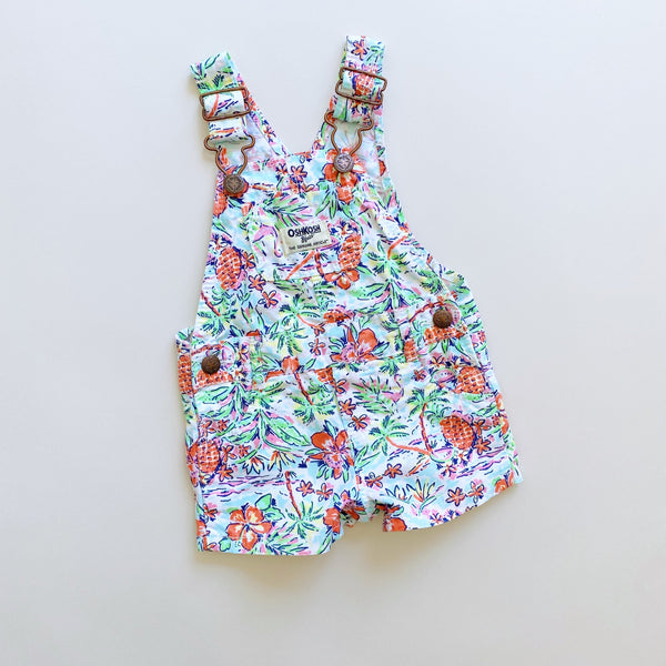 OshKosh Tropical Shortalls / Size 6M