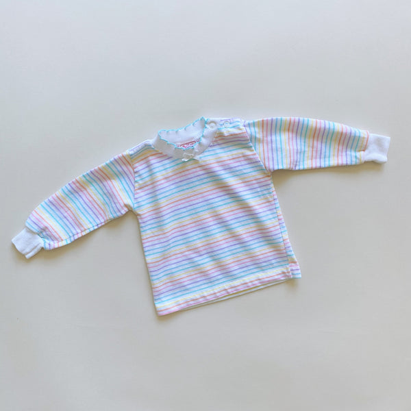 Vintage Buster Brown Striped Top / Size 12M