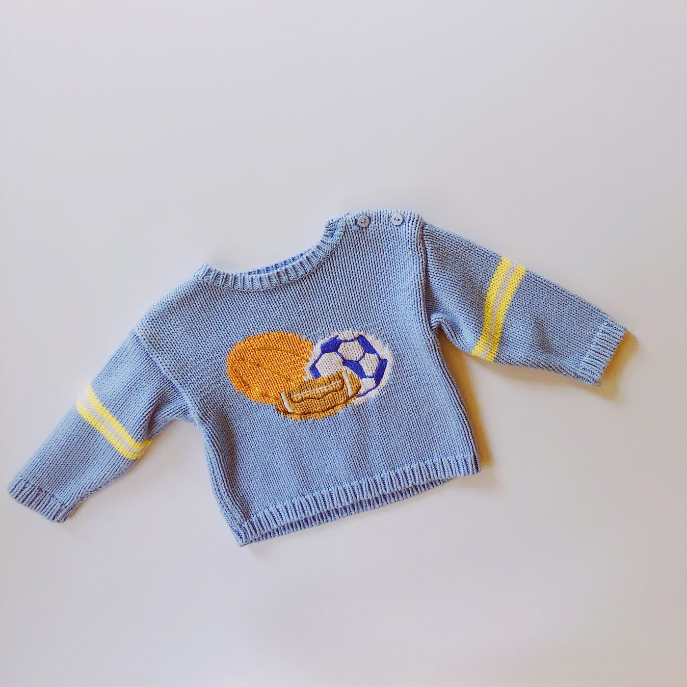 Hartstrings Baby Blue Sporty Sweater / Size 12M