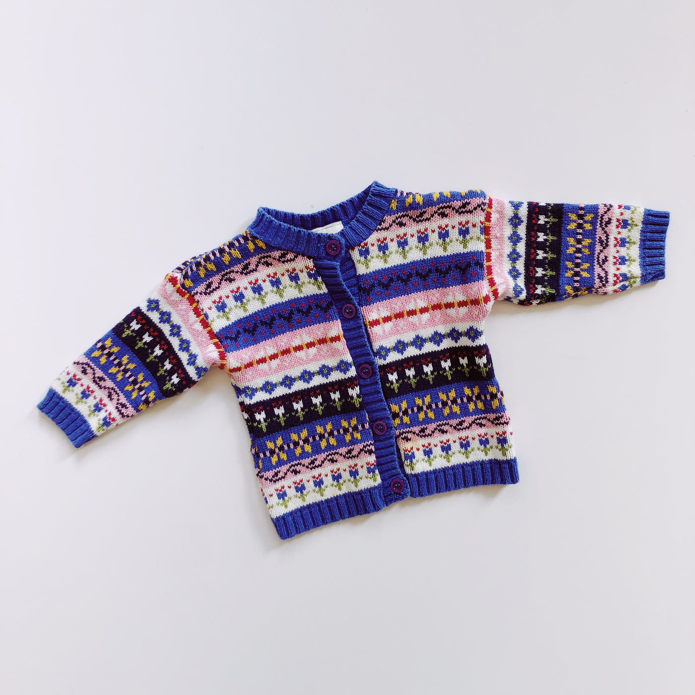 Vintage Carter's Wintery Mix Cardigan Sweater / Size 12M