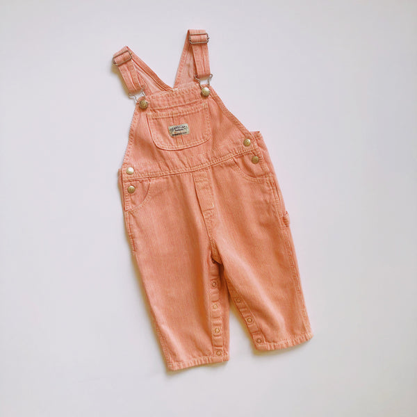 Baby Gap Tangerine Engineer Stripe Overalls / Size 18-24M