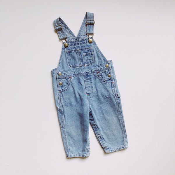 Baby Gap Lightwash Denim Overalls / Size 18-24M