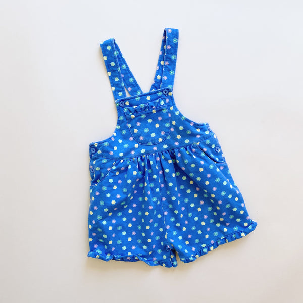 French Terry Floral Shortalls / Size 3T