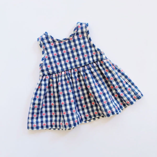 Vintage Baby B'gosh Gingham Sweetheart Dress / Size 3-6M