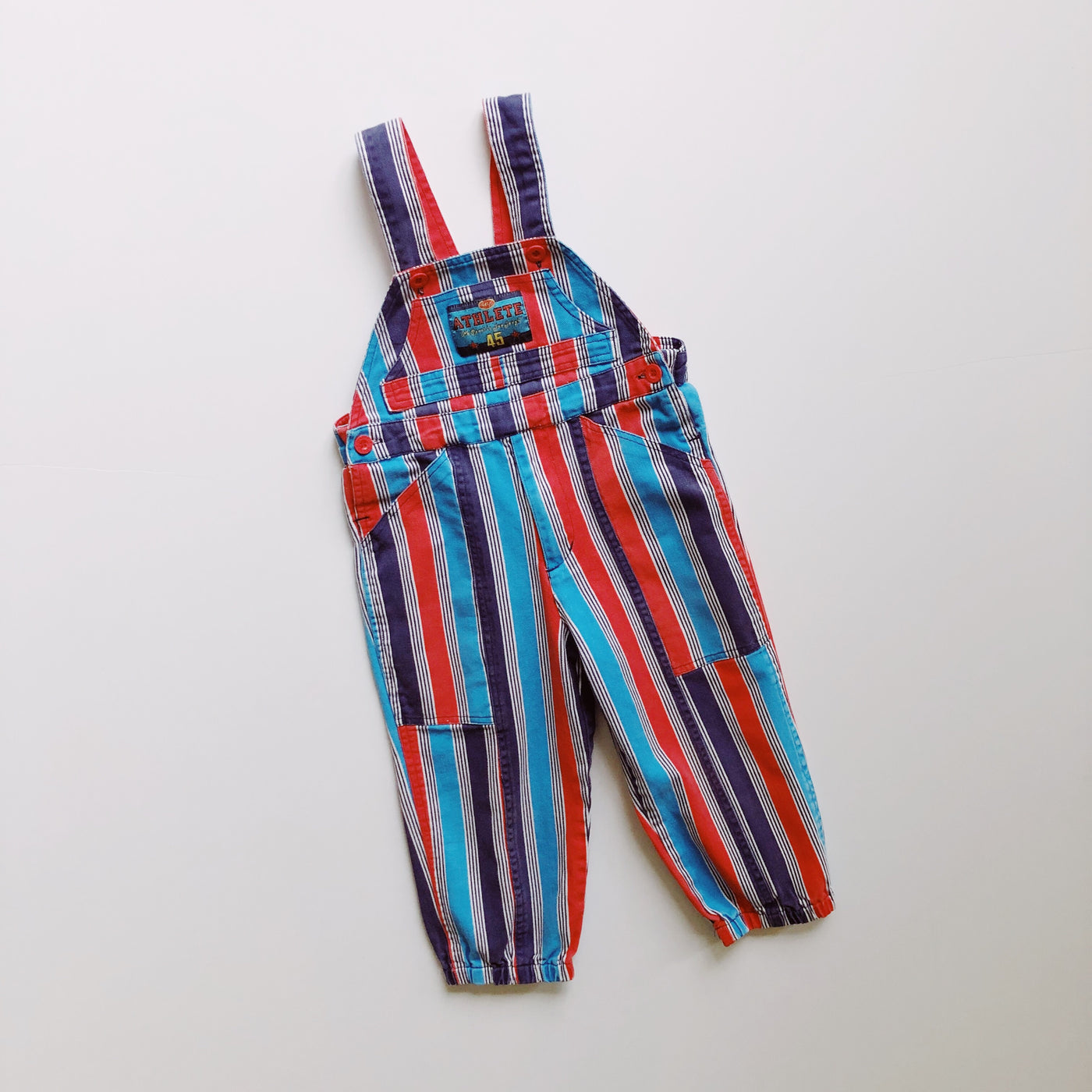 "Vintage Happy Kids ""Athlete"" Overalls / Size 3T"