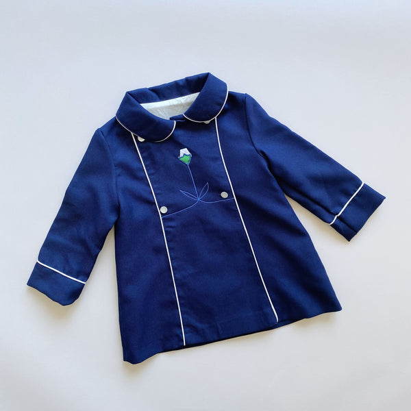 Vintage Double Breasted Navy Coat / Size 4T
