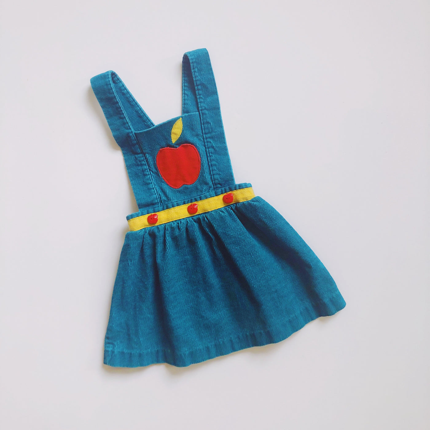 Vintage Apple Pinafore Dress / Size 2T