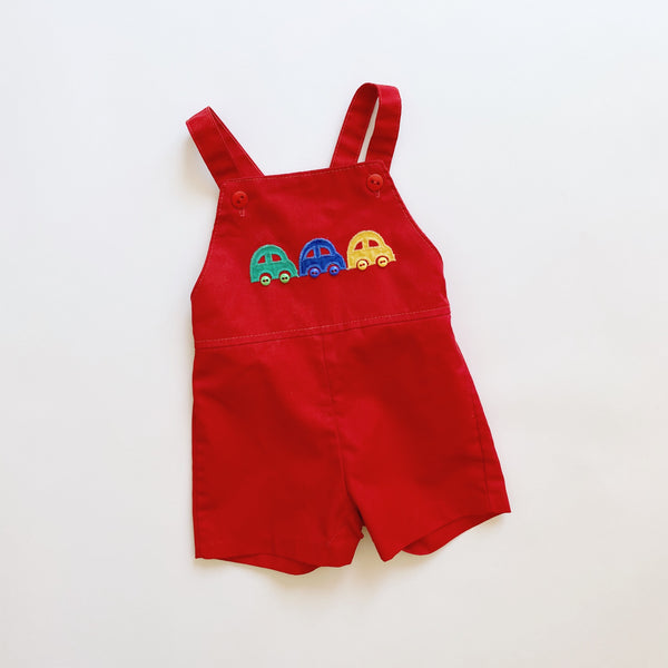Vintage Health-tex Happy Car Shortalls / Size 24M