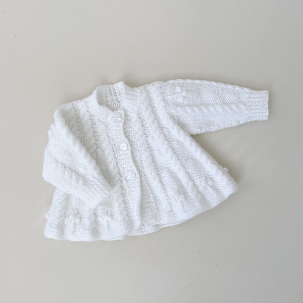 Handmade Knit Cardigan Sweater / Size 6M