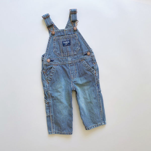 OshKosh Engineer Stripe Overalls / Size 9M