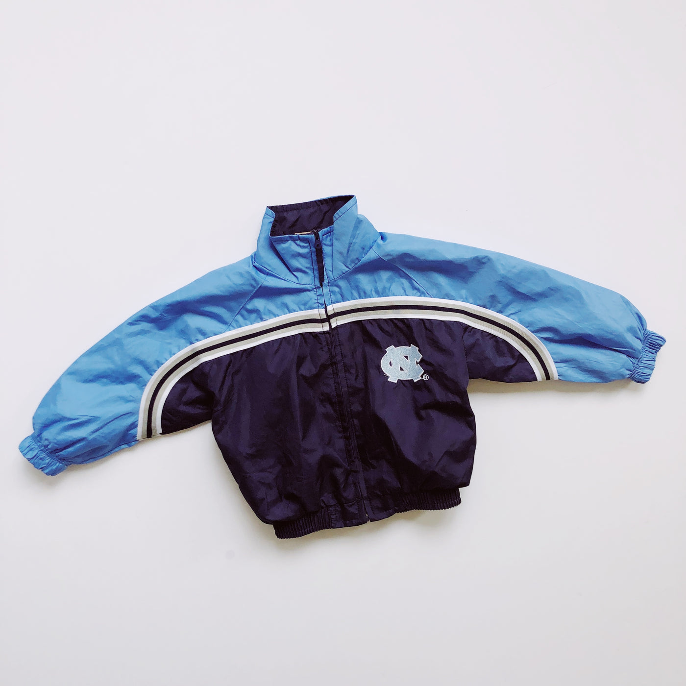 UNC Navy and Baby Blue Windbreaker Jacket / Size 2T
