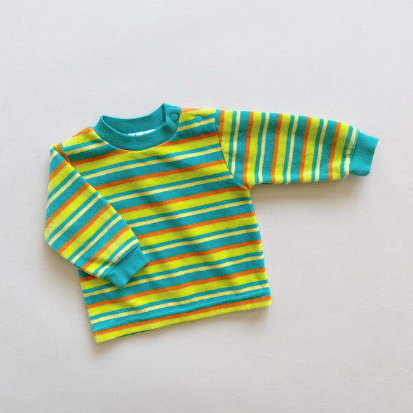 Le Top Striped Velour Crewneck / Size 3-6M