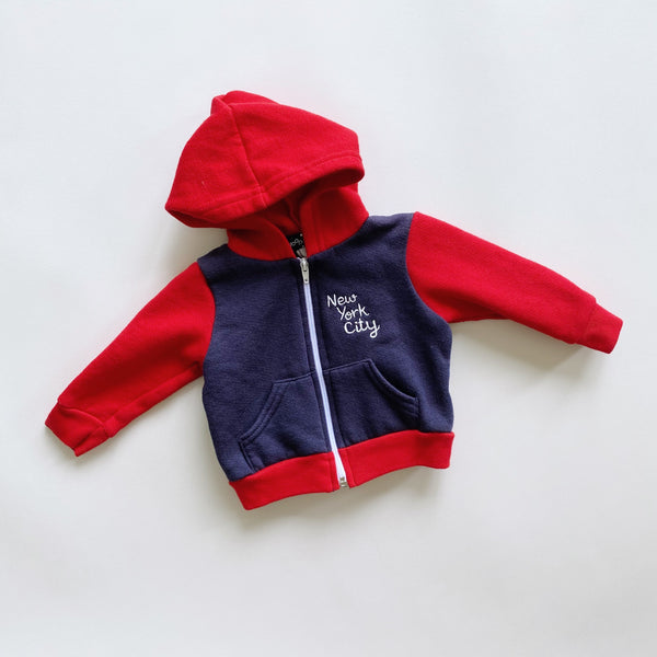 """New York City"" Embroidered Zip-Up / Size 3-6M"