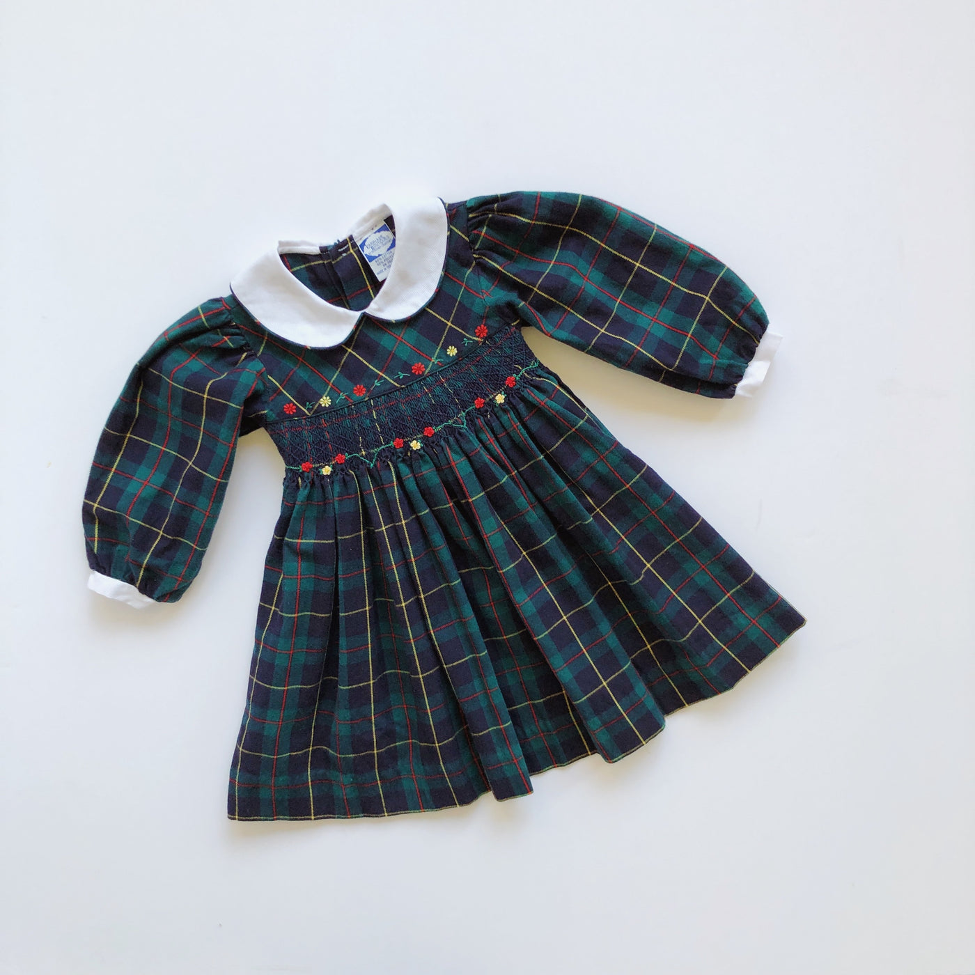 Vintage Carriage Boutique Plaid Smocked Dress / Size 3T