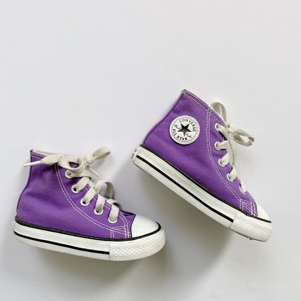 Purple Chuck Taylor All Star Sneakers / Toddler 5