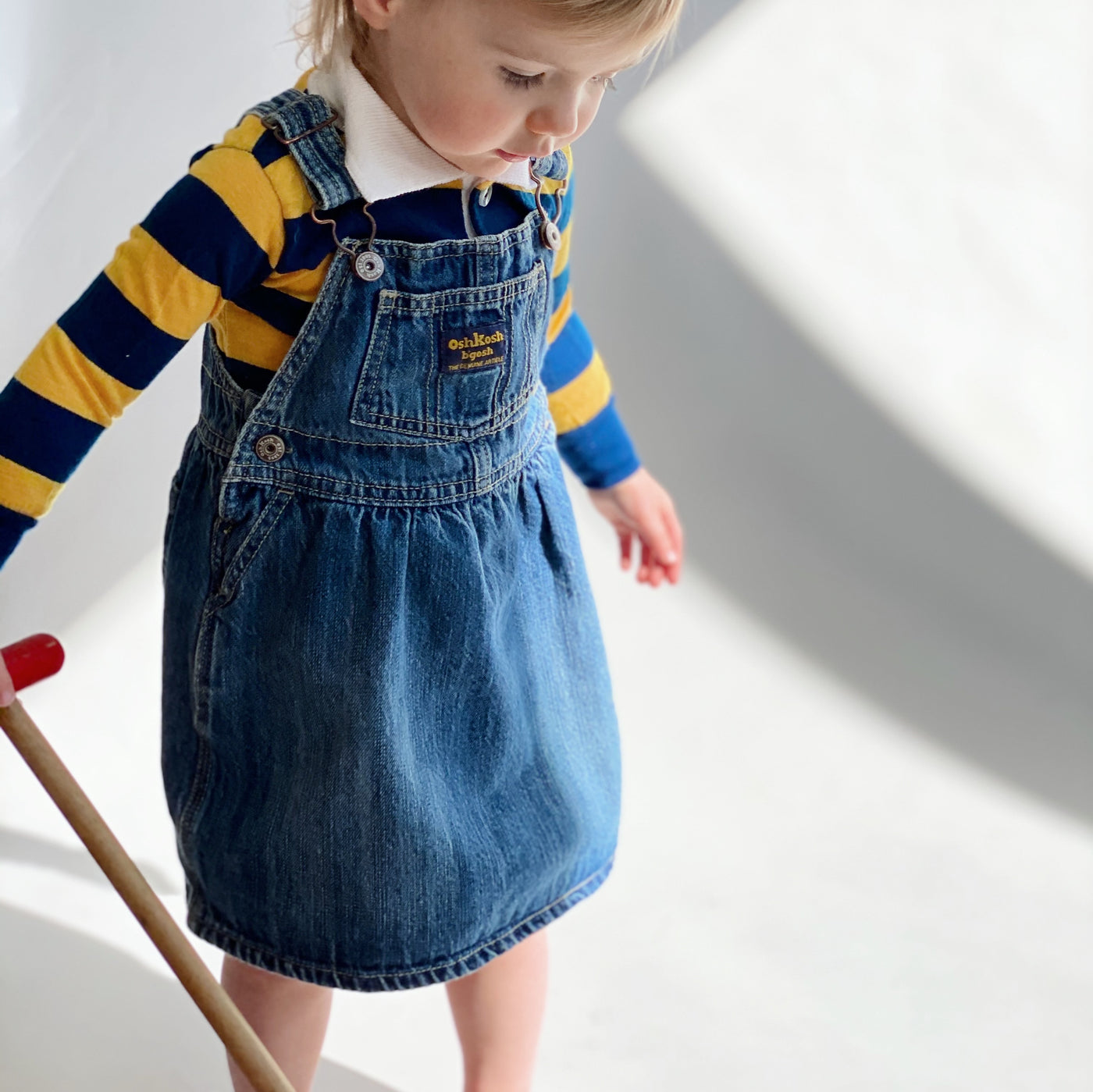 OshKosh Denim Overall Dress / Size 24M