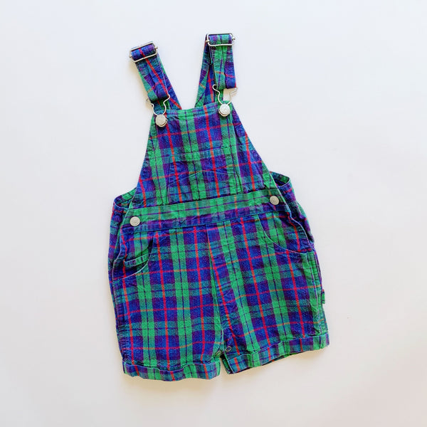 Baby Gap Tartan Plaid Shortalls / Size 12-18M