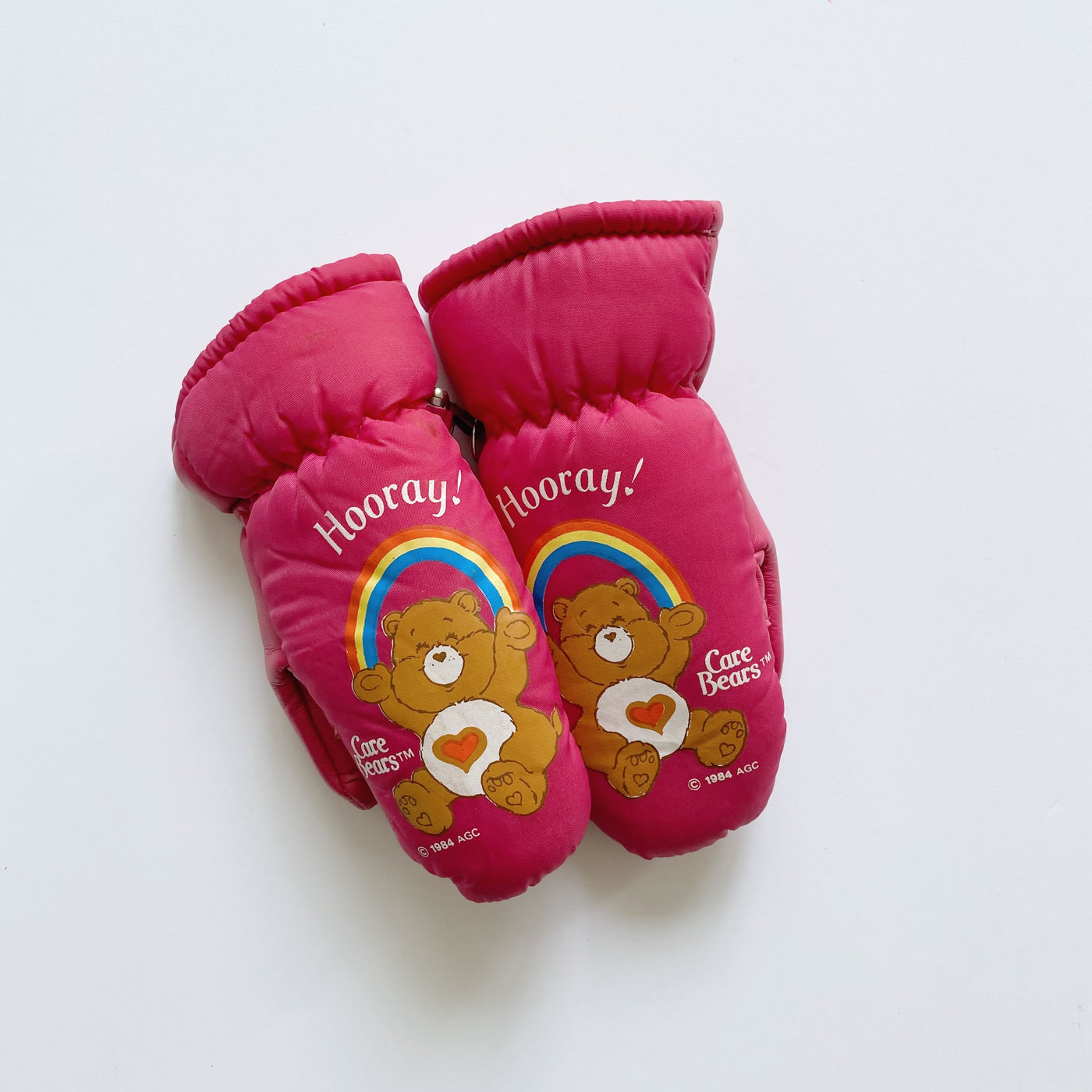 Vintage 1984 Care Bears Gloves / Size 1-2T