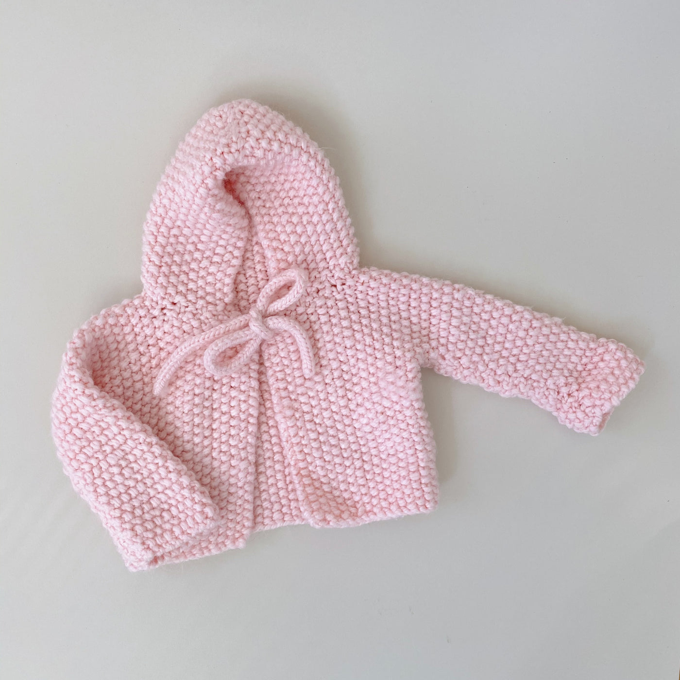 Handmade Pale Pink Sweater / Size 6-12M